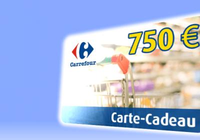 Gagnez Une Carte Cadeau Carrefour De 750 Mes échantillons