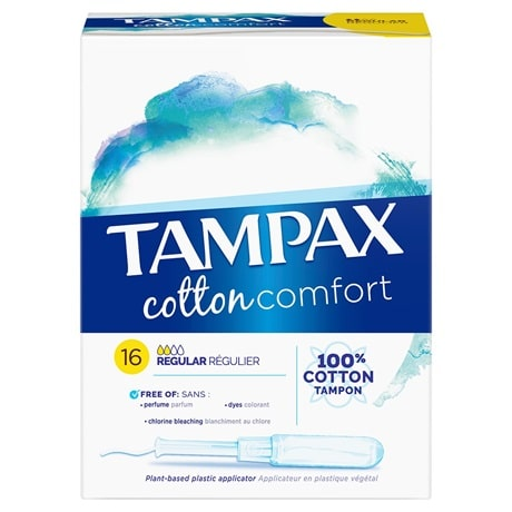 tampax cotton reduction
