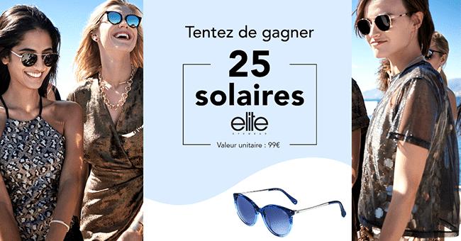 concours lunettes solaires elite