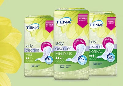 Tena lady discreet free sample