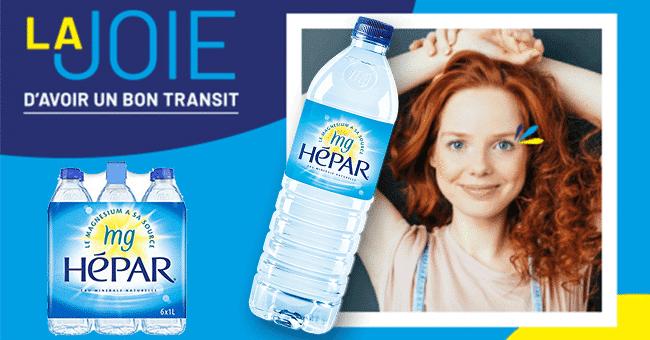 test pack bouteille eau hepar