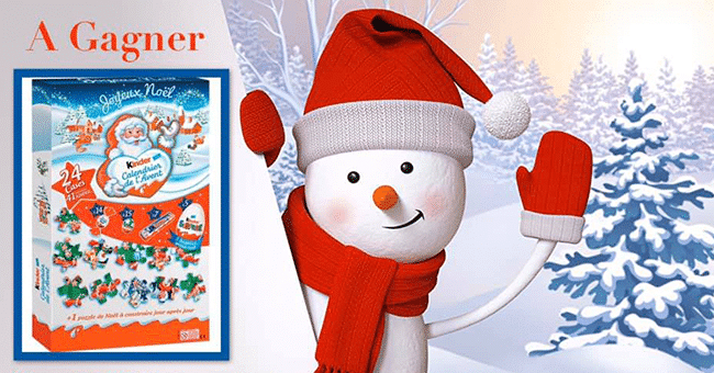 calendrier avent kinder concours