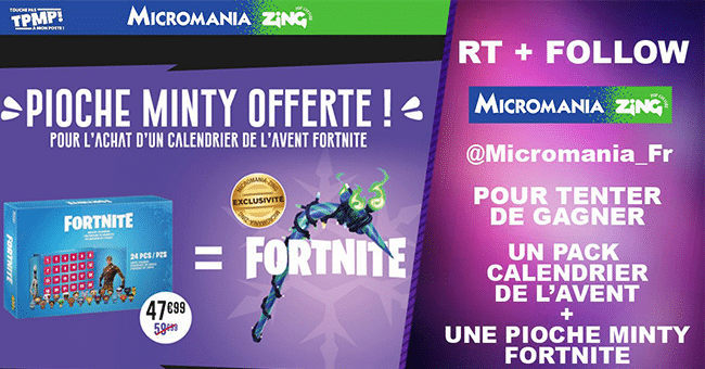 concours fortnite calendrier avent