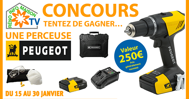 concours perceuse peugeot