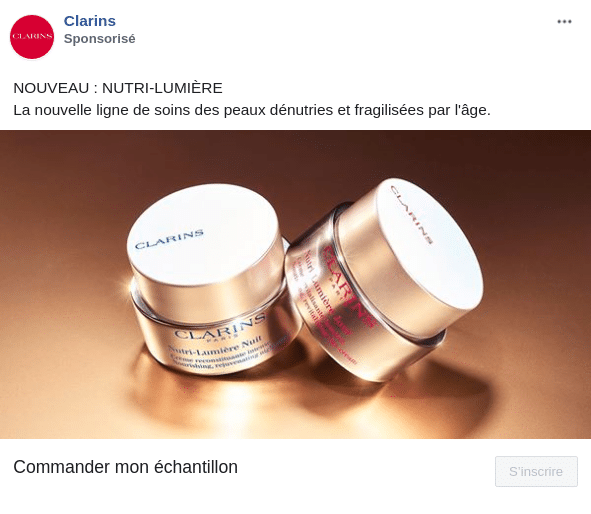 clarins offre