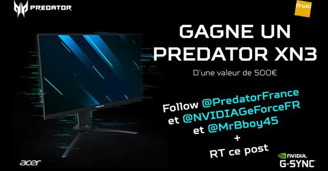 concours ecran predator