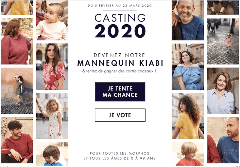 kiabi casting 2020