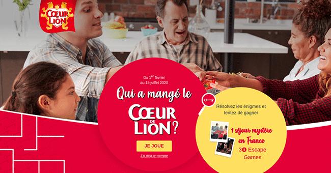concours coeur lion