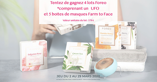 concours lot soins foreo