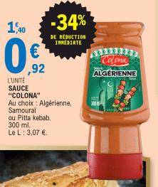 Promo de 048 € sur Sauce Colona 300 ml 1