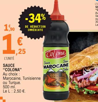 Promo de 065 € sur Sauce Colona 500 ml 1