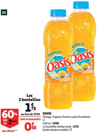 Promo de 075 € sur 2 Bouteilles Tropical Oasis 1