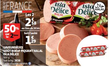 Promo de 086 € sur 2 Saveurdelice gout boeuf piquant Halal Isla Delice 1