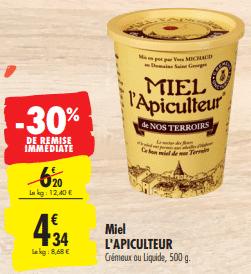 Promo de 1.86 € sur Miel L Apiculteur de Nos Terroirs