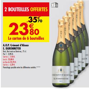 Promo de 119 € sur Carton de 6 Bouteilles A O P Cremont d Alsace E Durenmeyer 1