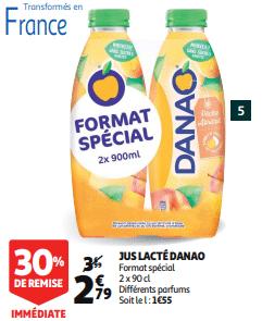 Promo de 12 € sur lot de 2 Jus Lacte Danao 1