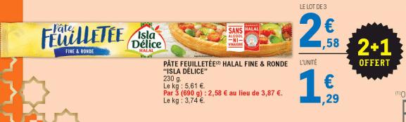 Promo de 129 € sur lot de 3 Pates Feuilletees Isla Delice 1