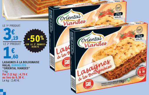 Promo de 159 € sur 2 Lasagnes a la Bolognaise Oriental Viandes 1
