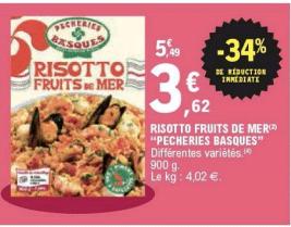 Promo de 187 € sur Risotto Fruits De Mer 1
