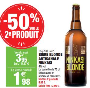 Promo de 197 € sur 2 Biere Blonde Artisanale Ninkasi 1