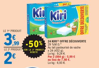 Promo de 199 € sur 2 Pack Kiri offre decouverte 1