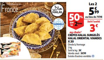 Promo de 199 sur 2 Crepes Halal surgeles Halal Oriental Viandes 1