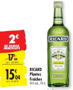 Promo de 2 € sur Ricard Plantes Fraiches 1
