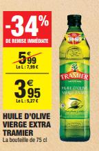 Promo de 204 € sur Huile d Olive Vierge Extra Tramier 1
