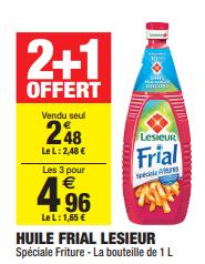 Promo de 248 € sur 3 Huile Frial Lesieur 1 L 1