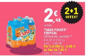 Promo de 248 € sur Pack de 6 Oasis Pocket Tropical 1