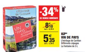 Promo de 275 € sur IGP Vin De Pays 1