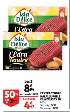 Promo de 298 € sur L Extra Tendre Halal Surgele Isla Delice 10 1
