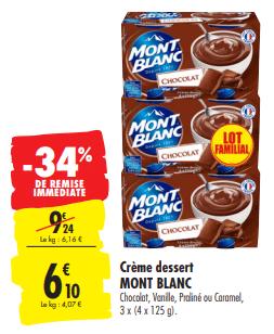 Promo de 314 € sur creme dessert Mont bLanc 1