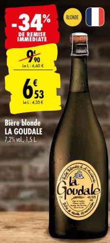 Promo de 337 € sur Biere Blonde La Goudale 1