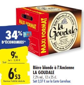 Promo de 337 € sur Biere Blonde a l ancienne La Goudale 1