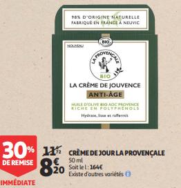 Promo de 352 € sur Creme du Jour La Provençale 1