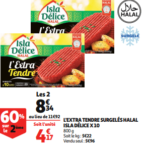 Promo de 358 € sur L Extra Tendre Surgeles Halal Isla Delice 1