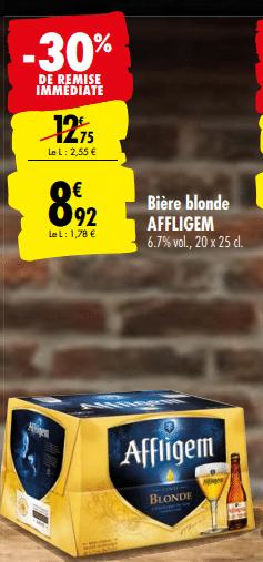Promo de 383 € sur Biere Blonde Affligem 1