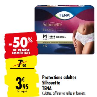 Promo de 395 € sur Protections Adultes Silhouette Tena 1