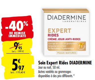 Promo de 398 € sur soin expert Rides Diadermine 1