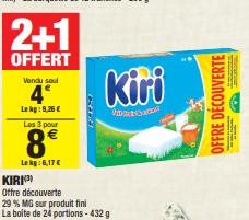 Promo de 4 € sur 3 Kiri Offre Decouverte 1