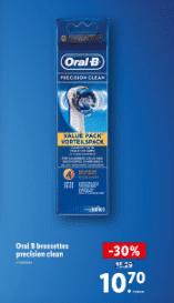 Promo de 4.59 € sur Oral B brossettes precision clean