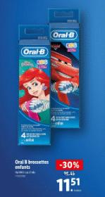 Promo de 4.94 € sur brossette Oral B enfant