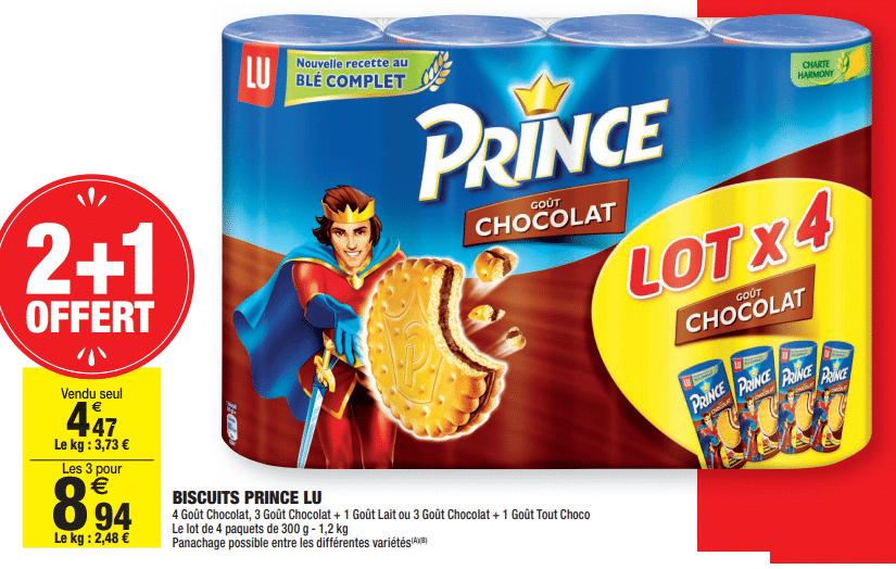 Promo de 447 € sur lot de 3 Biscuits Prince Lu 1