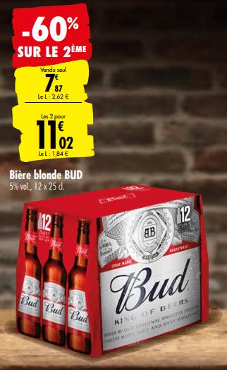 Promo de 472 € sur 2 Pack Biere Blonde Bud 1