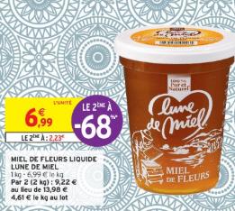 Promo de 476 € sur 2 Miel de Fleurs liquide Lune de Miel 1