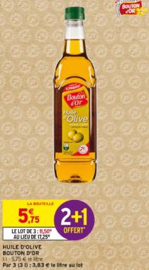Promo de 575 € sur lot de 3 Huile d olive Bouton d or 1
