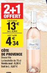 Promo de 650 € sur 3 Bouteilles Cote De Provence 75 cl 1