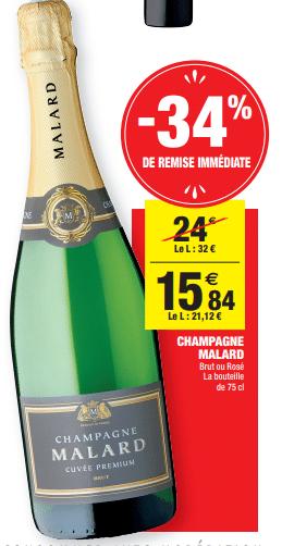 Promo de 816 € sur Champagne Malard 75 cl 1