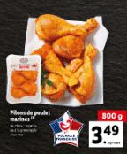 Promo sur 800 g de Pilons de poulet marines Volaille Française